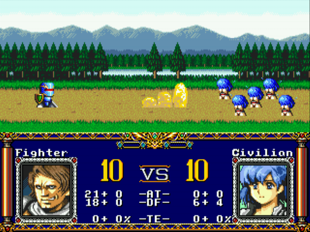 "Langrisser II (english translation) - Level 1 - This is not what I meant by ""hit on girls""... - User Screenshot"